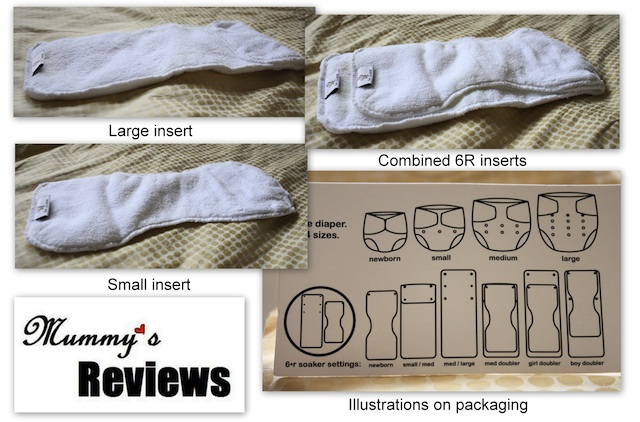 Rumparooz One Size Cloth Diaper (6R inserts)