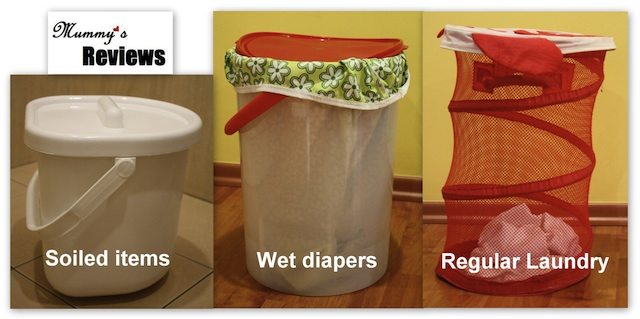 Baby's Laundry (1 Wet Pail, 1 Dry Pail & 1 Laundry Basket)