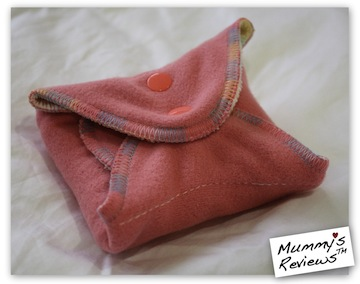 "Fresh Moon 11"" AIO Organic Bamboo Velour Cloth Pad folded"