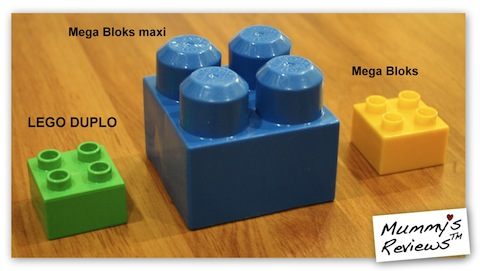 LEGO DUPLO and Mega Bloks compare sizes
