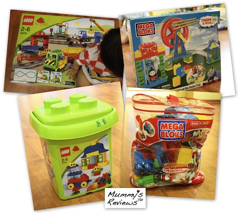 LEGO DUPLO and Mega Bloks sets