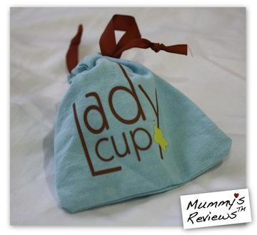 LadyCup Menstrual Cup in pouch
