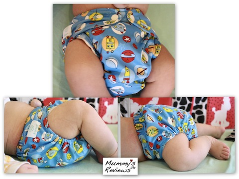 Charlie Banana One Size Cloth Diaper (on baby)