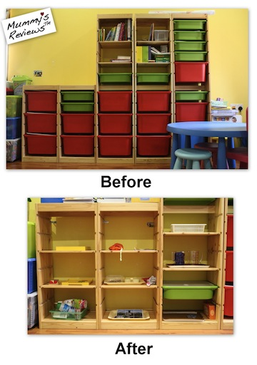 Homeschool shelves IKEA TROFAST