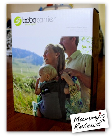 Mummy's Reviews - Boba Baby Carrier 3G packaging