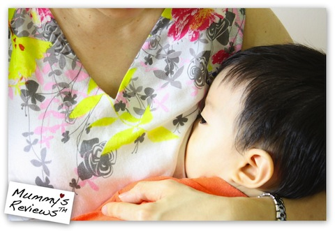 ubermums nursing dress with baby