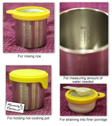 Pigeon Porridge Cooking Pot functions