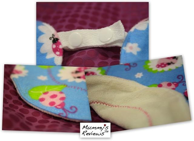 Mummy's Reviews - Angel Mel Collections Cuddly Buddies Bib close-up