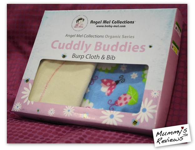 Mummy's Reviews - Angel Mel Collections Cuddly Buddies Bib packaging