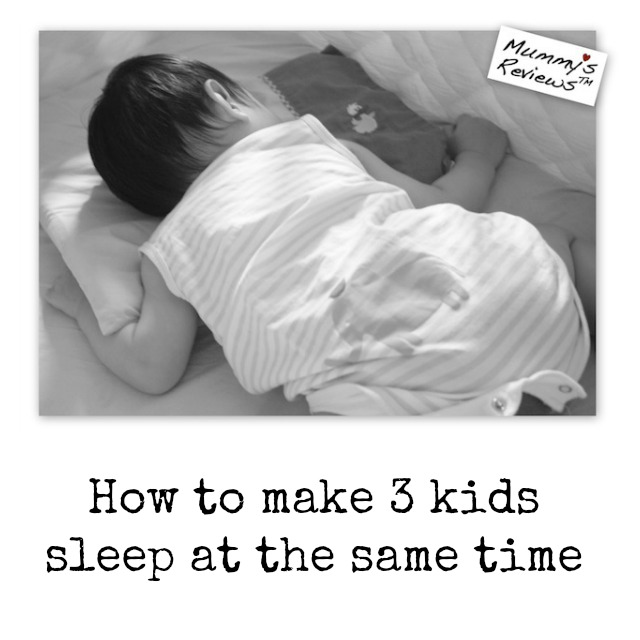 How to make 3 kids sleep at the same time