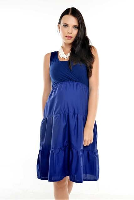 ubermums nursing dresses marseille_navy1
