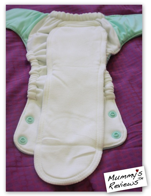 Mummy's Reviews - GroVia AIO Cloth Diaper inside
