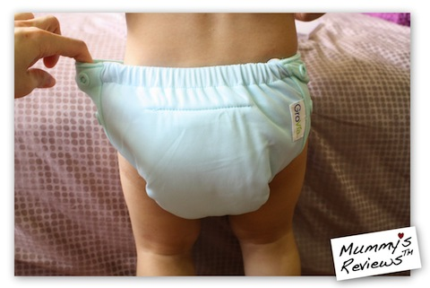 Mummy's Reviews - GroVia AIO Cloth Diaper stretchy tabs
