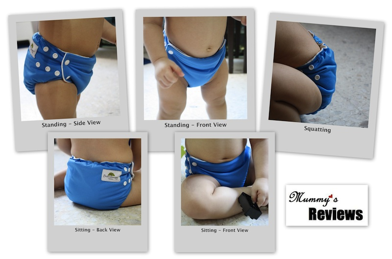 Bottombumpers Side Snapping AIO Diapers - Different Views