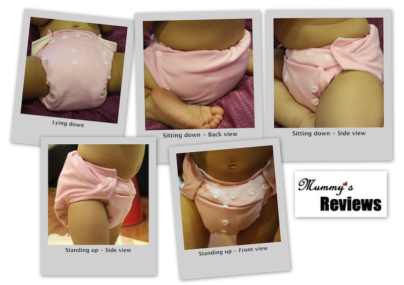 Bouncy Baby One Size Cloth Diaper (Different Views)