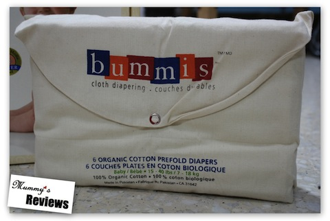 Bummis Organic Cotton Prefolds (Packaging)