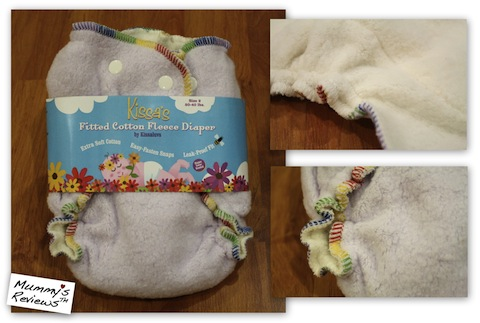 Kissaluvs Cotton Fleece Fitted Cloth Diapers v2.0 (Close Up)