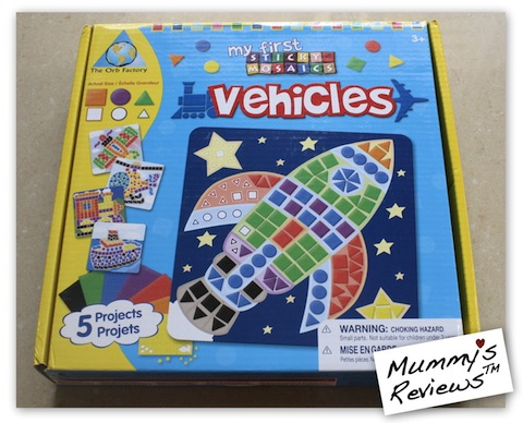 My First Sticky Mosaics - Vehicles (Packaging)