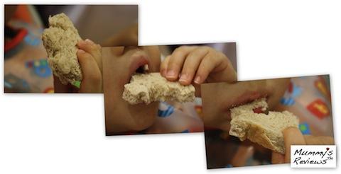 The Lunch Punch (enjoying bread)