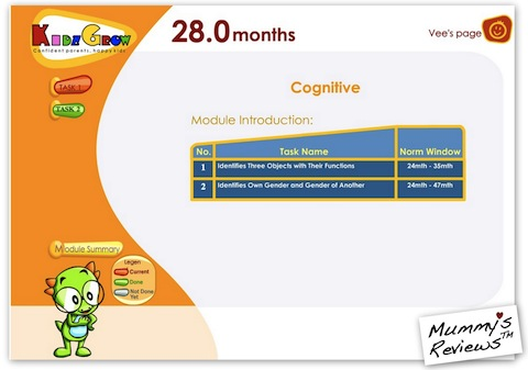 KidzGrow Online Screenshot - Module Introduction