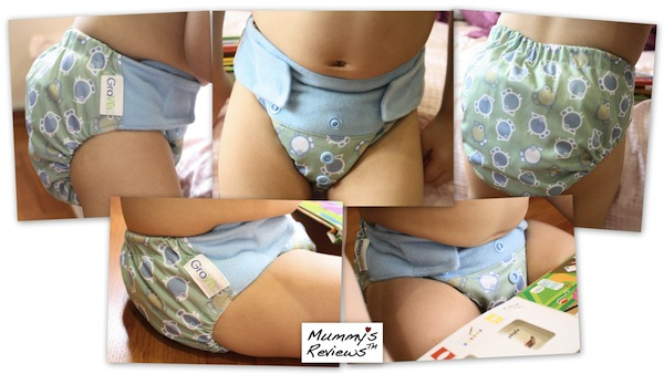 GroVia All-in-Two Hybrid Cloth Diaper Shell Set (different views)