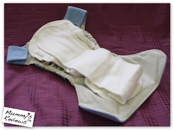 GroVia All-in-Two Hybrid Cloth Diaper Shell Set (inside)