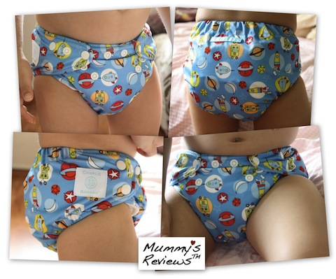 Charlie Banana One Size Cloth Diaper (on toddler)