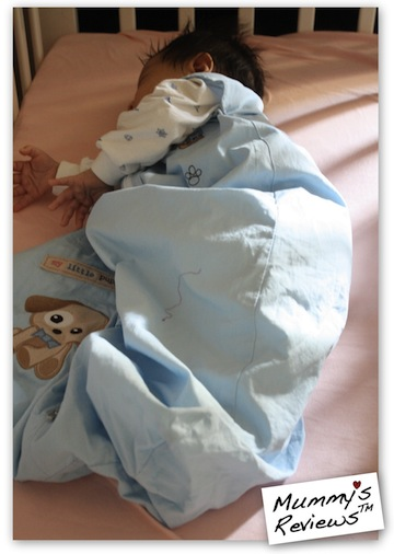 Snoozaboo Baby Sleep Bag on baby