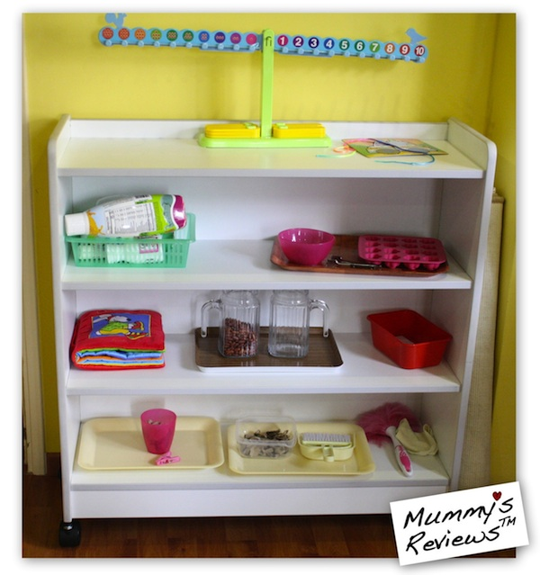 Homeschool Montessori Practical Life shelf