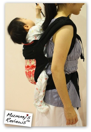 Mummy's Reviews - Boba Baby Carrier 3G backcarry sideview