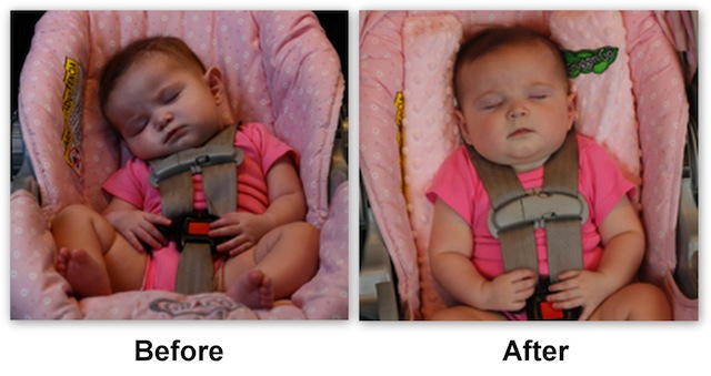 Snuggin Go Before And After Looking For Baby Head Support