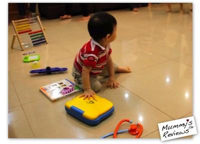 Mummy's Reviews - Jae 1 year old birthday chooses laptop