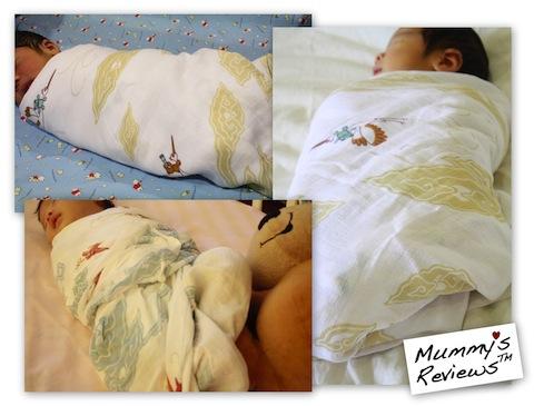 Mummy's Reviews - Ciinolin Muslin Swaddles baby el